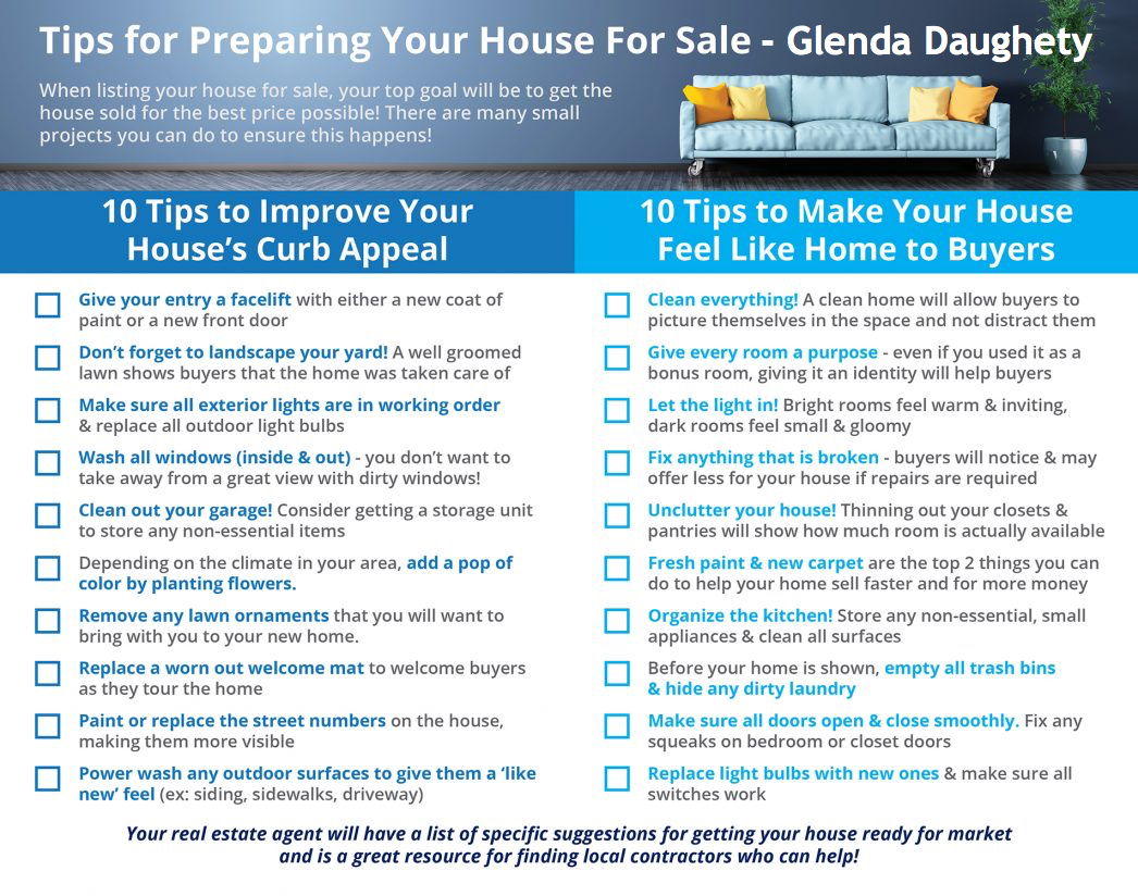 glenda daughety home selling tips
